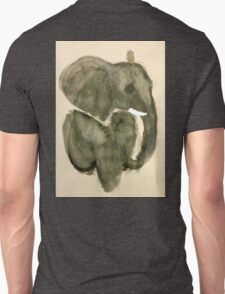 Elephant in Gray Unisex T-Shirt