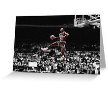 Michael Jordan Slam B&W Red Tint Greeting Card