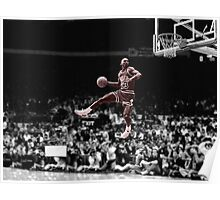 Michael Jordan Slam B&W Red Tint Poster
