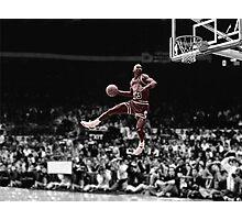 Michael Jordan Slam B&W Red Tint Photographic Print