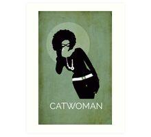 Catwoman Natural Hair Comic Art Geekery Art Print