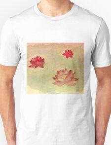 Three Lotus Flowers Unisex T-Shirt