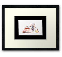 Pudding Love Framed Print