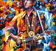 Johnny Cash — Buy Now Link - www.etsy.com/listing/224696813 by Leonid  Afremov