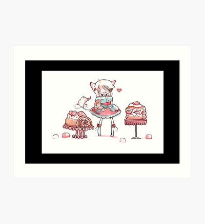 Strawberries Forever Art Print