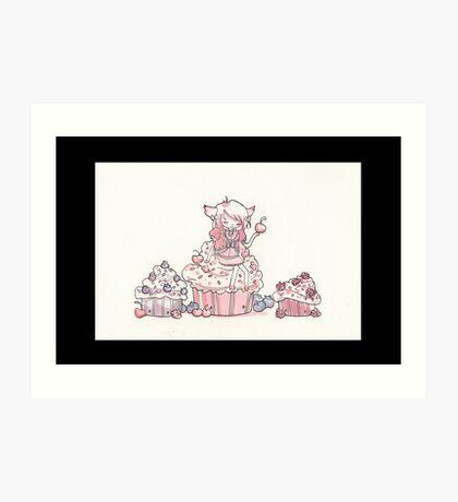 Once upon a cupcake Art Print