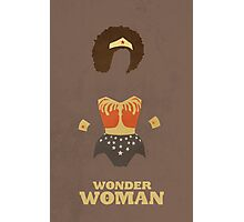 Wonder Woman Natural Hair Comic Art Geekery Photographic Print