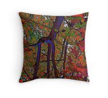 Giraffe's Autumn Garden Throw Pillow