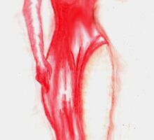 The Woman in red.....ink by Juanito