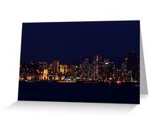 San Diego by Night Greeting Card