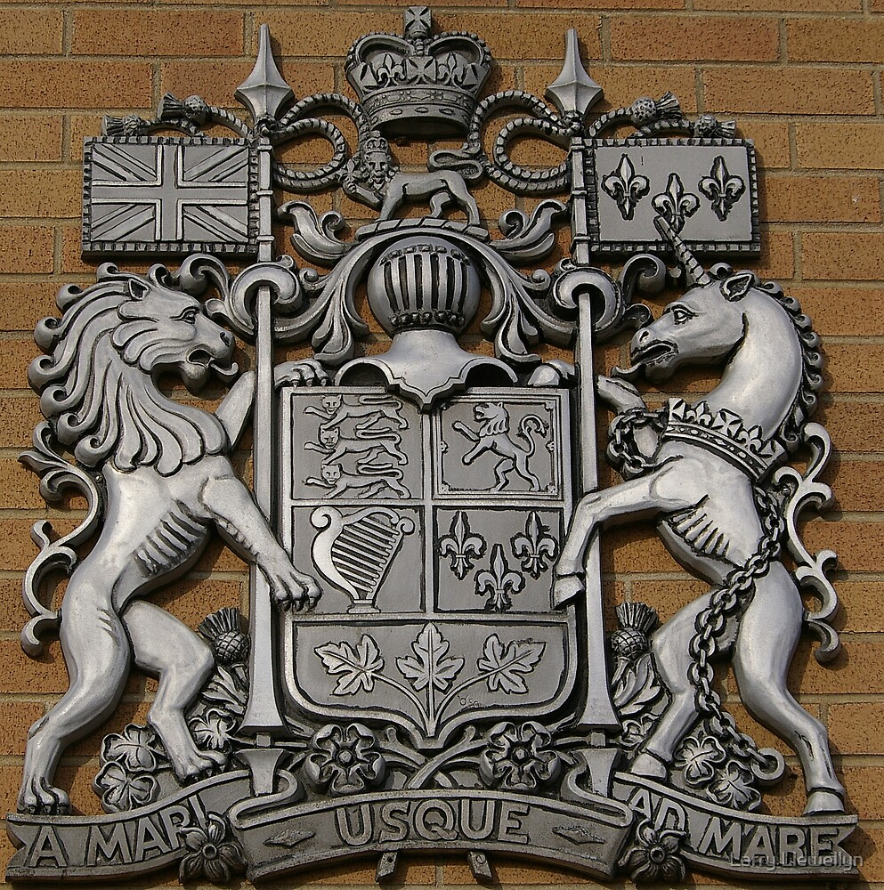 In Ontario out side a post office The Coat of Arms of Canada..... by Larry Llewellyn