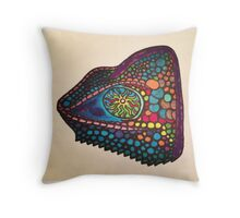 Chameleon Colors Throw Pillow