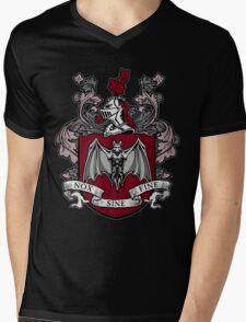 Bat Crest (Red) Mens V-Neck T-Shirt