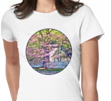 White Picket Fence by Flowering Trees Womens Fitted T-Shirt