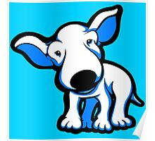 EBT Puppy Blue and White Poster