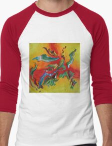"""Intrepid"" original abstract artwork Men's Baseball ¾ T-Shirt"