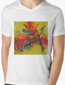 """""""Intrepid"""" original abstract artwork Mens V-Neck T-Shirt"""