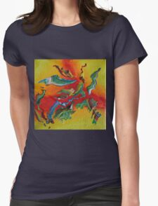 """Intrepid"" original abstract artwork Womens Fitted T-Shirt"