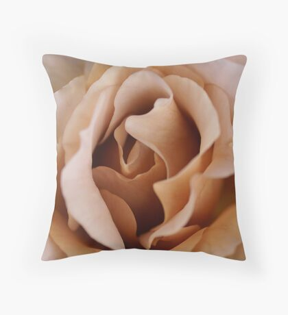 Soft Toffee Throw Pillow