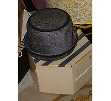 Vintage Hat And Box Photographic Print