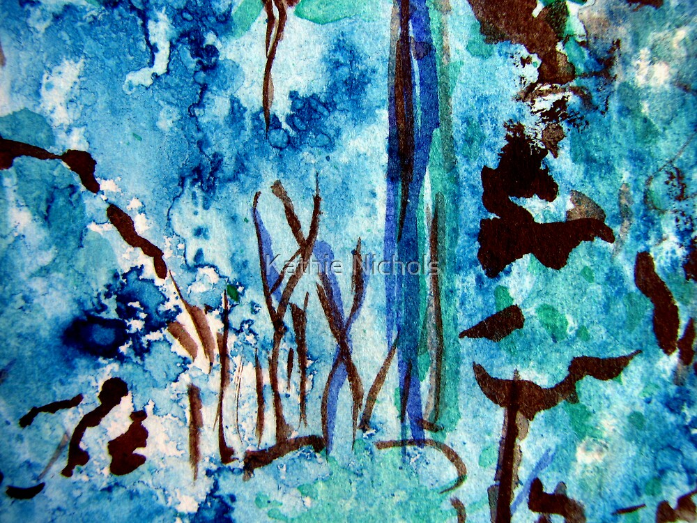 Turquoise Forest by Kathie Nichols
