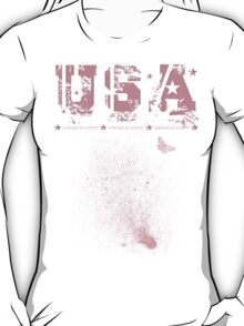 USA with Butterfly T-Shirt