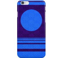 Blue Moon and Lavender Diamond Crosshatch Fabric iPhone Case/Skin