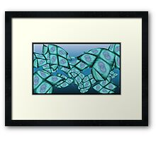Fractal Sea Framed Print