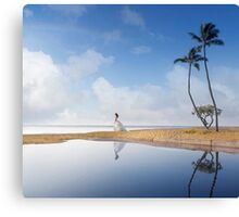 A Bride In Paradise Canvas Print