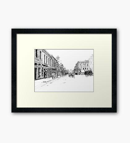 Bentonville, Arkansas Square - 1914 Framed Print