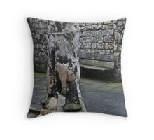 Once Carved Throw Pillow