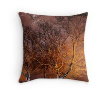 bare naked trees Throw Pillow