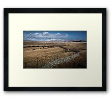 Brecon dry stone wall and fields Framed Print