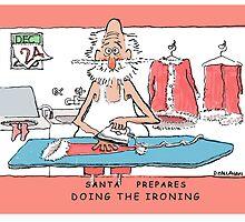 Santa Prepares -Doing The Ironing by DamianCallanan