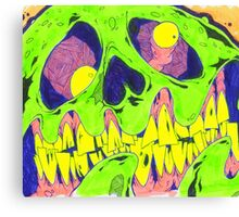 Zombie Draw Canvas Print