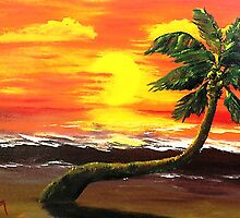 Hot Sunset ..........Melting Palm by WhiteDove Studio kj gordon