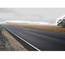Storm coming, road going Photographic Print