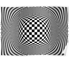 Optical Illusion Checkers  Poster