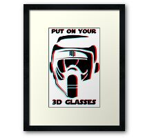 Put on your 3D Scout Glasses Framed Print