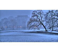 Winter  Blue Photographic Print