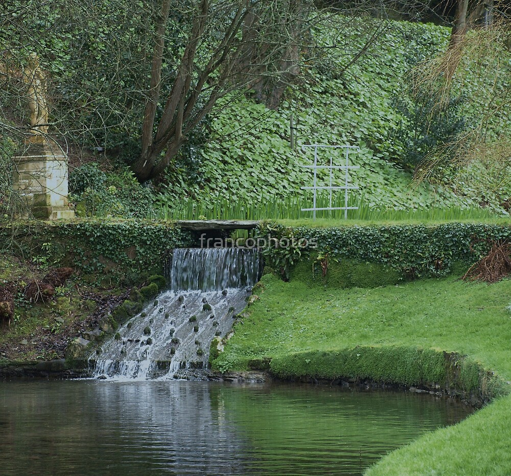 Garden in Spring at Watermouth Castle Coombe Martin North Devon UK by Franco De Luca Calce