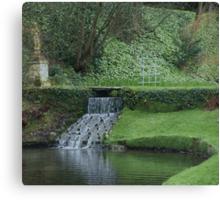 Garden in Spring at Watermouth Castle Coombe Martin North Devon UK Canvas Print