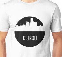 Detroit Skyline Shadow Unisex T-Shirt
