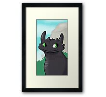 Sweet Toothless Framed Print