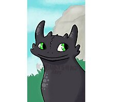 Sweet Toothless Photographic Print