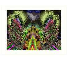 The Aztek temple Art Print