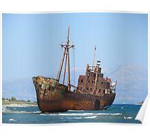 Rustic Boat Poster