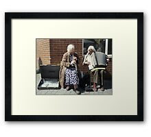 Street musicians in Ireland Framed Print