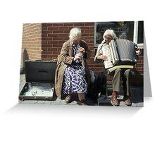 Street musicians in Ireland Greeting Card
