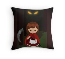 Dark Red Throw Pillow